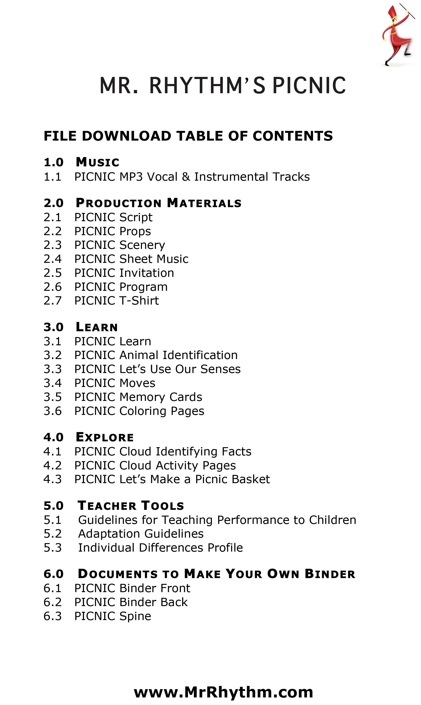 Children S Play Script Picnic Adventure Music And
